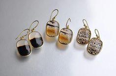 Square Montana Agate Earrings (Tej Kothari) - SOURCE objects