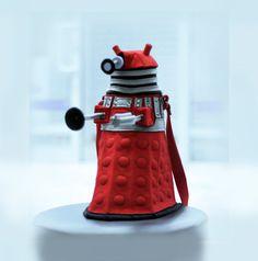 Doctor Who Dalek Red Felt Purse Dalek bag Geekery by krukrustudio, $190.00