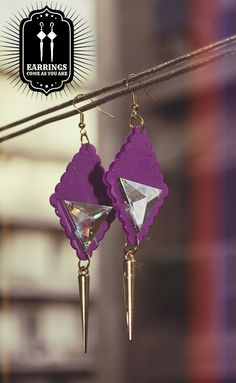 Purple Dark Spirit Earrings Dark Spirit, Victorian Gothic, Arrow Necklace, Chokers, Fashion Jewelry, Drop Earrings, Purple, Trendy Fashion Jewelry, Drop Earring
