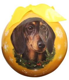 Dachshund Christmas Ornament Shatter Proof Ball Easy To Personalize A Perfect Gift For Dachshund Lovers *** This is an Amazon Affiliate link. To view further for this item, visit the image link.