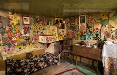 Beat the winter blues with Maud Lewis' colourful house, as seen in The World of Interiors magazine. You can visit her house at the #Art Gallery of #NovaScotia.