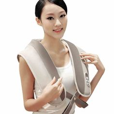 56.61$  Watch now - http://ailkn.worlditems.win/all/product.php?id=32719199926 - Massage shawl neck shoulder beating massage cape cervical vertebra massager Relaxation health care device 220V EU UK US Plug