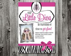 little diva / baby diva birthday party invitation by lifewelllived. $18.00, via Etsy.