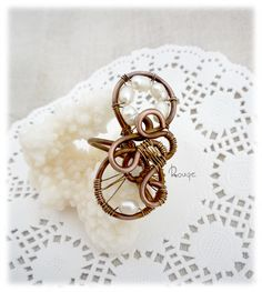 Wire wrappe ring copper ring pearl ring big ring wire pearl ring wire copper ring Pearl wire work ring wire wrapped jewellery handmade pearl by RougeJewel on Etsy