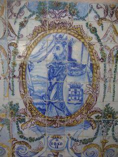 D. JOÃO II – Painel de azulejos do Jardim do Palácio Galveias, em Lisboa.