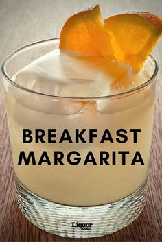 Start Your Day with a Breakfast Margarita! You'll adore this orange-marmalade and tequila cocktail. Start your day with this delicious orange-marmalade Margarita. Learn how to mix up your own Breakfast Margarita cocktail. Party Drinks, Fun Drinks, Yummy Drinks, Beverages, Breakfast Alcoholic Drinks, Brunch Drinks, Margarita Cocktail, Cocktail Drinks, Margarita Tequila