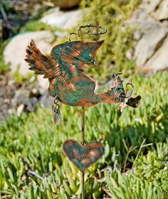 Cat Angel Pet Memorial Grave Marker / Metal Garden Art / Copper Art / Outdoor Cat Sculpture / Cat Lovers Gift / Pet Memory Marker / Patina