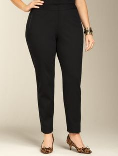 Talbots - Heritage Fit Ponte Knit Zip-Pocket Ankle Pants | New Arrivals | Woman $109