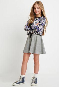 Wool-Blend Skater Skirt (Kids) | Forever 21 girls - 2000162119