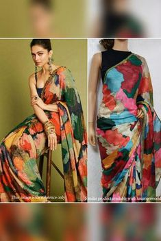 Details From our exclusive collection, we are offering you the Multicolor Print Georgette Saree, which...