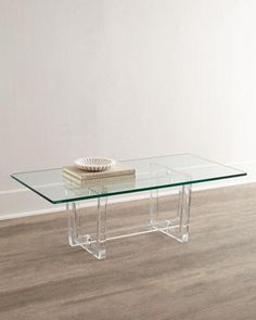 Waterfall Acrylic Coffee Table w Shelf Acrylic Lucite Sofa Table