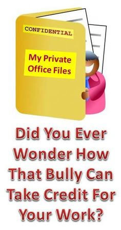 Workplace intimidation can consist of several different bullying behaviors like stealing your ideas and sabotaging your work. Both of these are intended to make the target look bad and make the bully stand out in front of the management. To find out more about the workplace bully's traits, get my e-book at http://workplace-bully.com