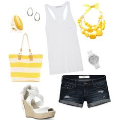 Day at the Beach, created by shannon71680 on Polyvore