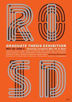 2011 Rhode Island School of Design (RISD) Graduate Thesis Exhibition in Providence, RI.