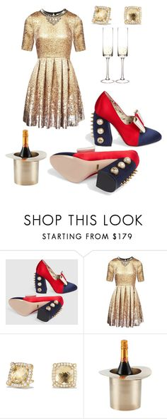 """""""Champagne 🥂"""" by kittenkouture ❤ liked on Polyvore featuring Gucci, Matthew Williamson, David Yurman, Lunares and Cathy's Concepts"""