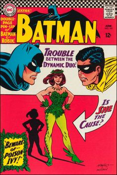 """Trouble between the Dynamic Duo!"" - Batman No.181 (June 1966) - Cover by Carmine Infantino and Murphy Anderson."