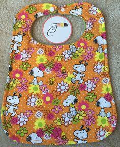 Springtime Snoopy Baby Bibs by CraftyToucan