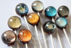 Planet lollipops. we can actually make them by ourselves if we have the materials...--Sixing