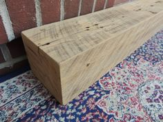 "Reclaimed Barn Beam Fireplace Mantle 71"" x 6"" x 5"" - Rustic 1800's Elm Wood Timber Beam Mantel - Barnwood Shelf - Rustic Decor - Harvestbilt by Harvestbilt on Etsy"
