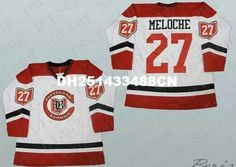 27 Gilles Meloche Cleveland Barons Hockey Jersey Red White or Custom any  number name Mens Stitched jerseys e37b224ce