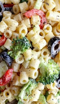 Creamy pasta salad. One of my favorite dishes for summer!