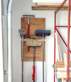 Crate ends that hang workshop storage! Click for more upcycled storage ideas by Funky Junk Interiors, for @ebay.com