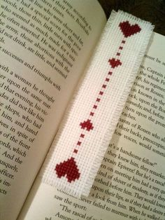 Items similar to Love Bookmark - Cross Stitch on Etsy Cross Stitch Bookmarks, Cross Stitch Heart, Cross Stitch Borders, Cross Stitch Designs, Cross Stitching, Cross Stitch Embroidery, Hand Embroidery, Cross Stitch Patterns, Book Markers