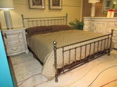 Item #: 40375 The Bennington metal bed in a king size. This is such a popular look, because you can match a metal bed with almost anything. It is so versatile. Another good feature of this bed is that while it is a king size, it gives the illusion of taking up less space because of all the open areas between the bars. At time of posting, we have other sizes available too.