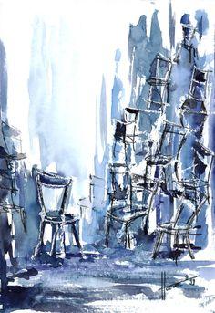 ... Stühle ... so viel zu bewältigen ...