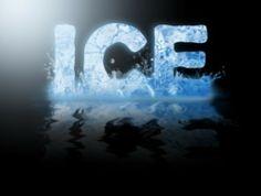 typography word ice