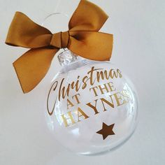 Personalised christmas bauble family name by Ameliaslittlegifts