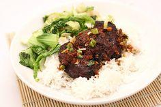 Sticky Asian-spiced pig cheeks Pork Recipes, Asian Recipes, Healthy Recipes, Chinese Recipes, Healthy Food, Pork Cheeks, Sticky Pork, Asian Pork, Chinese Food