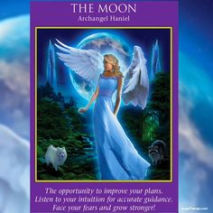 This shows heaven's support for you, for us all. This also shows that the angels can see your sensitivity to the moon cycles.  This card is a signal that you are extra-sensitive, extra-psychic, and extra-intuitive today. Trust the messages you get, and listen to your inner truth.  This card especially emphasizes that if you get an intuition to change or improve your plans, listen.