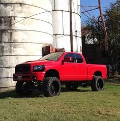 I'm not for dodge but I love the red and black and then lifted I couldn't resist