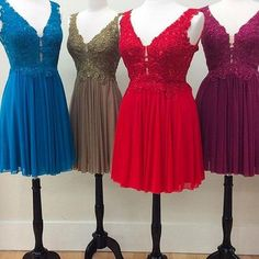 Sale Great Prom Dresses A-Line, Homecoming Dress Chiffon, Lace Homecoming Dress, Prom Dresses Short Elegant Homecoming Dresses, V Neck Prom Dresses, Dresses Short, Dress Prom, Party Dresses, Chiffon Dress, Lace Dress, Lace Chiffon, Classy Dress