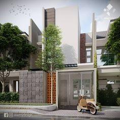 "30 Suka, 0 Komentar - Azhar (@azmydesign) di Instagram: ""Contemporary Small House Luas lahan 6 x 12 m2 3 buah ruang tidur ..…"" Garage Doors, House Design, Outdoor Decor, Home Decor, Decoration Home, Room Decor, Architecture Design, Home Interior Design, House Plans"