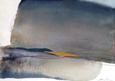 Abstracto acuarela / Original arte moderno / pintura - paisaje abstracto / contemporáneo arte / decoración para el hogar