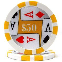 11.5-Gram Premium 4-Aces Poker Chips, Yellow