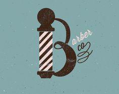 The Barber Co. by Neil Tasker, via Behance