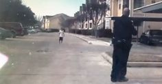 Awesome Video Shows Police Officer Stopping To Play Catch With A Young Boy!