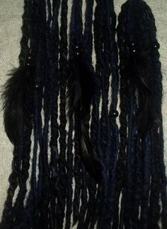 Black Clip In Dreads Viking Dreadlocks Raven by tinkertailoruk, $13.50