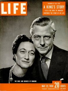 May 22, 1950, cover of LIFE magazine featuring the Duke and Duchess of Windsor.    inShare  Share on Tumblr    CULTURE  1942  1959
