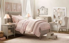 pink ruffle bedding (taytay)