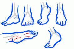 how to draw anime feet, draw feet step 10