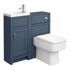 SHOP the Chatsworth Traditional Blue Cloakroom Suite at Victorian Plumbing UK Cloakroom Vanity Unit, Cloakroom Suites, Vanity Units, Basin Unit, Basin Taps, Concealed Cistern, Bathroom Furniture, Bathroom Ideas, Minimalist Design