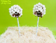 S'mores Sheep Pops from KitchenFunWithMy3Sons.com