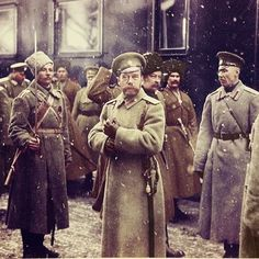 WW1. Tsar Nicolas at the Russian Front.