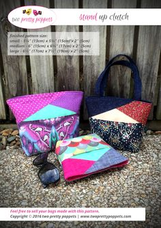 Stand Up Clutch – two pretty poppets