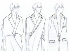 Fashion Sketchbook - fashion design sketches for minimal tailored collection; fashion portfolio // Mehrzad Hemati