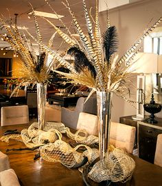 Black, Gold, Silver And Neutral Holiday And Christmas Dining Room  Decorations By Joan Klick, Interior Designer From Star Furniture In Sugar  Land, ...